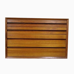 Vintage System Wall Sideboard Drawers Unit by Poul Cadovius for Cado, 1974