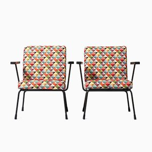 Model 415 Easy Chairs by D. Cordemeijer & W. Rietveld for Gispen, 1950s, Set of 2