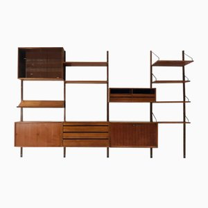 Large Vintage Danish Teak Wall System by Poul Cadovius for Cado, 1960s
