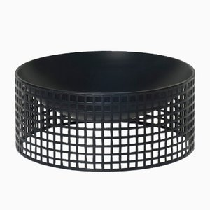 Secessionist Black Bowl by Josef Hoffmann for Bieffeplast, 1970s