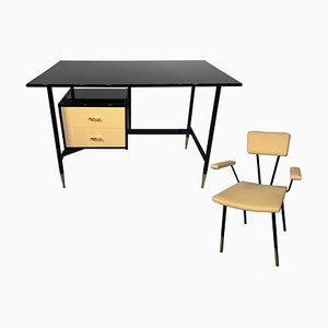 Set da scrivania Mid-Century con sedia di Ico Luisa Parisi per RB Rossana, Italia, anni '50