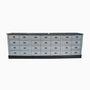 Gray Patinated Pinewood Sideboard, 1930s
