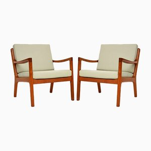 Danish Teak Armchairs by Ole Wanscher for Cado, 1960s, Set of 2
