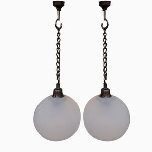 Small Model LS10 Boccia Ceiling Lamps by Luigi Caccia Dominioni for Azucena, 1960s, Set of 2