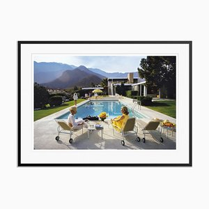 Poolside Glamour Oversize C Print Framed in Black by Slim Aarons