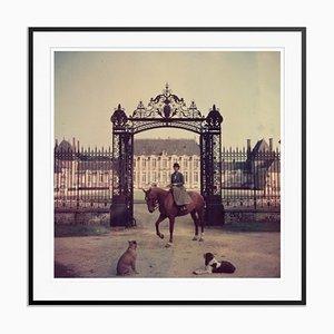 Equestrian Entrance Oversize C Print Framed in Black by Slim Aarons