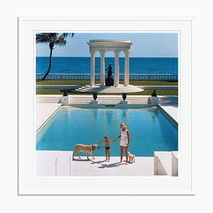 Nice Pool Oversize C Print Framed in White by Slim Aarons