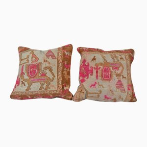 Turkish Animal Soumac Cushion Cover
