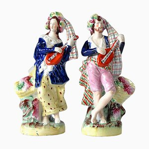 Antique Figurines from Staffordshire, Set of 2