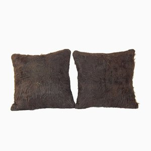 Turkish Siirt Blanket Cushion Covers, Set of 2