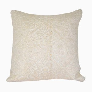 Turkish White Kilim Cushion Cover