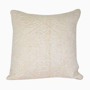 Turkish White Kilim Cushion Cover