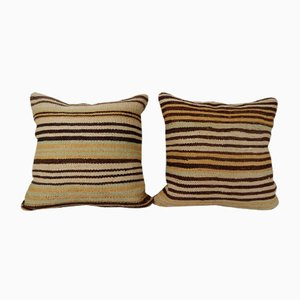Turkish Striped Kilim Cushion Cover
