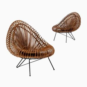 Iron Lounge Chairs by Janine Abraham & Dirk Jan Rol for Rougier, 1950s, Set of 2