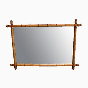 Large Cherry & Bamboo Rectangular Mirror, 1920s