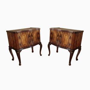 Tables de Chevet Art Déco Vintage Chippendale, Italie, 1920s, Set de 2