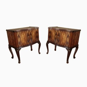 Vintage Art Deco Italian Chippendale Nightstands, 1920s, Set of 2