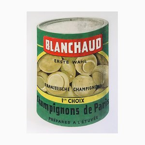 Vintage French Hand-Painted Blanchaud Champignons de Paris Advertising Sign, 1960s