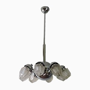 Vintage Italian Chandelier in the Style of Goffredo Reggiani, 1960s