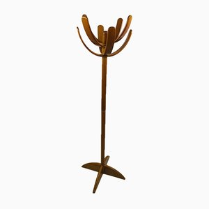Italian Lacquered Beech Cactus Coat Rack by Mario Pasquinelli for Pallavisini, 1972