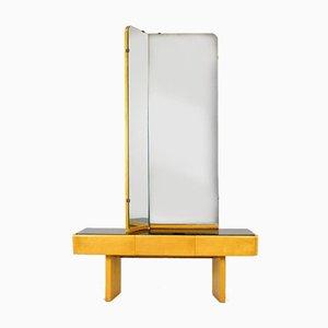Tocador vintage con espejo, años 60