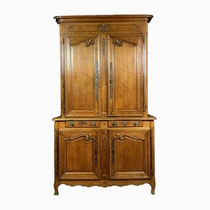 Louis XV Oak Two-Body Buffet