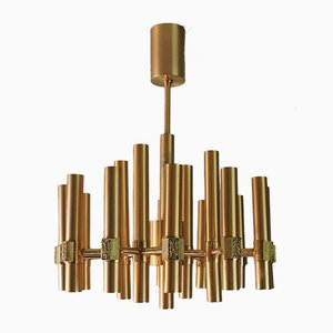Vintage Italian Chandelier by Angelo Brotto for Esperia, 1960s