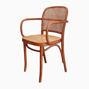 No. 811 Prague Dining Chairs by Josef Hoffmann, 1960s, Set of 4