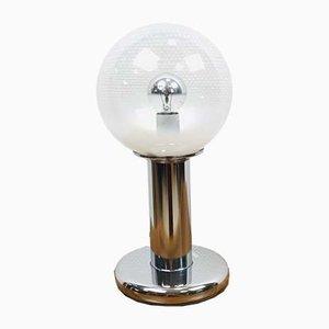 Lampe de Bureau en Verre Murano Soufflé à la Main sur Socle en Chrome de Targetti, Italie, 1960s
