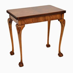 Queen Anne Style Walnut Card Table, 1930s