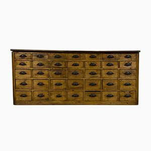 Large Antique Victorian Bank of Drawers