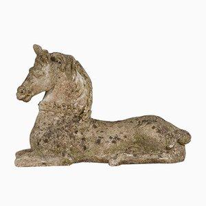 Vintage Horse Garden Statues, Set of 2