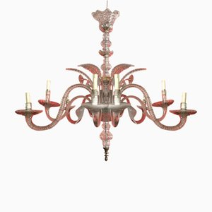 Large Antique Murano Glass Chandelier, 1930s
