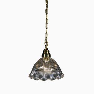 Mid-Century Fluted Pendant Lamp from Holophane