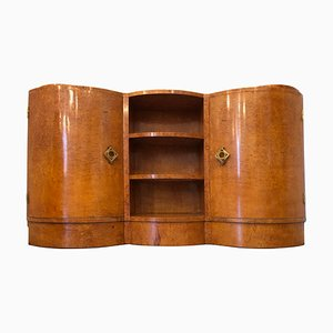 Art Deco French Maple Corner Cupboard, 1940s