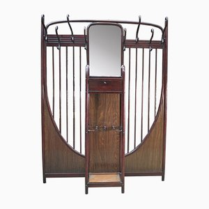 Large Antique Bentwood Hall Coat Rack from Thonet, 1900s
