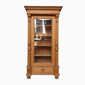 Antique Softwood Display Cabinet