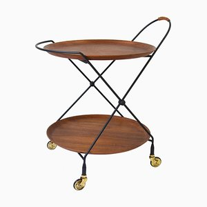 Teak Serving Bar Cart by Paul Nagel for Jie Gantofta, 1960s