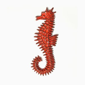 Mid-Century Ceramic Seahorse Wall Sculpture from Amphora, 1960s