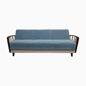 Gray Blue Sofa Daybed, 1950s