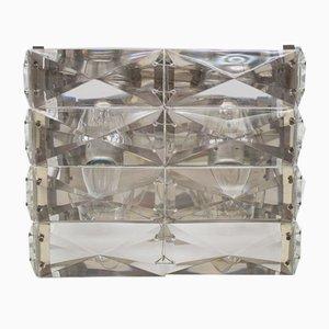 Vernickelte österreichische Vintage Kristallglas Wandlampe von Bakalowits & Söhne, 1960er