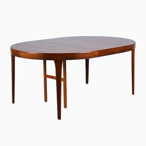 Mid-Century Teak Round Extendable Dining Table by Ib Kofod Larsen for Faarup Møbelfabrik, 1960s
