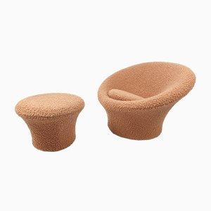 Mushroom Sessel und Fußhocker von Pierre Paulin für Artifort, 1960er