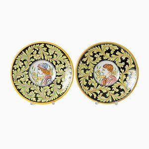 Vintage Italian Decorative Plates from Mastro Giorgio, 1950s, Set of 2