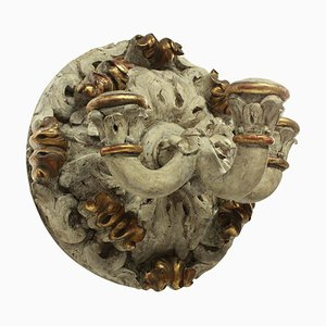 Large 19th Century Carved Wall Sconce