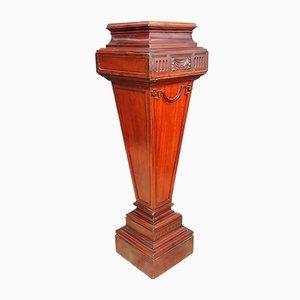 Louis XVI Mahogany Trapezoidal Mahogany Pedestal Column