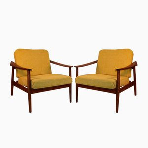 Scandinavian Model 164 Lounge Chairs by Arne Vodder for France & Søn / France & Daverkosen, 1960s, Set of 2
