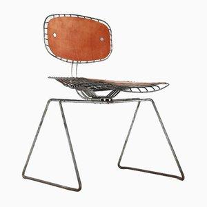 Sillas Beaubourg de alambre de Michel Cadestin para Centre Pompidou, años 70. Juego de 6