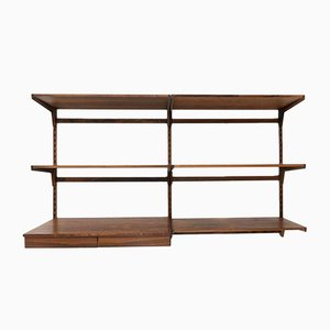 Mid-Century Danish Rosewood Desk Wall Shelving Unit by Kai Kristiansen for FM Mobler