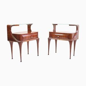 Tables de Chevet Mid-Century par Vittorio Dassi, 1950s, Italie, Set de 2